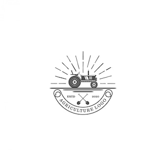 Tractor logo for agriculture industrial - farming