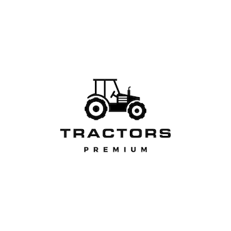 Tractor logo vector icon illustration