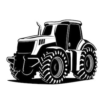 Трактор силуэт иллюстрации
