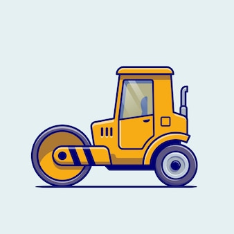 Tractor vehicle cartoon. building transportation isolated