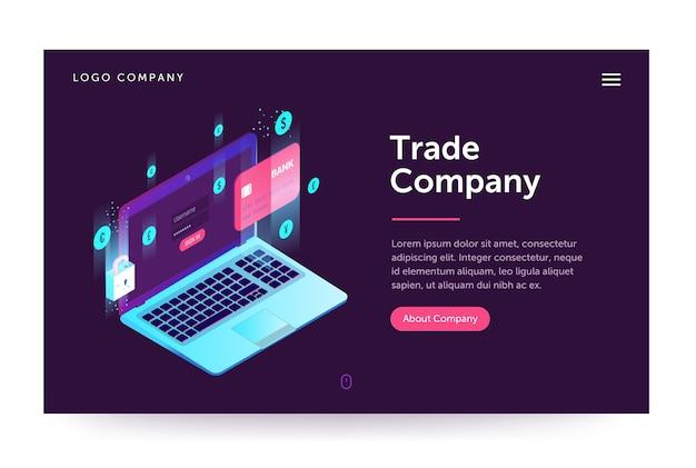 Trade company illustration