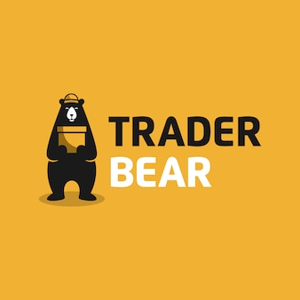 Trader bear、ロゴデザイン