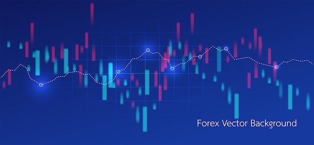 Торговая и карта мира абстрактный финансовый график
