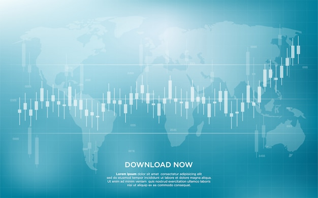 Trading background with simple and modern illustration of bar graphs of stock market trading.