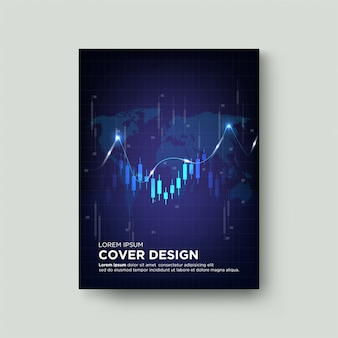 Trading cover with illustrations of glowing candle charts on a dark background.
