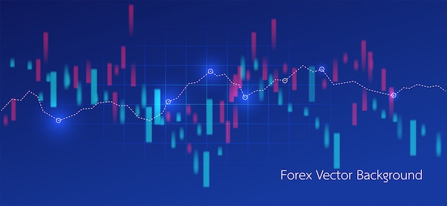 Trading and map world abstract financial chart