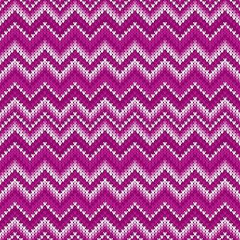 伝統的な抽象的なシェブロンニットパターン