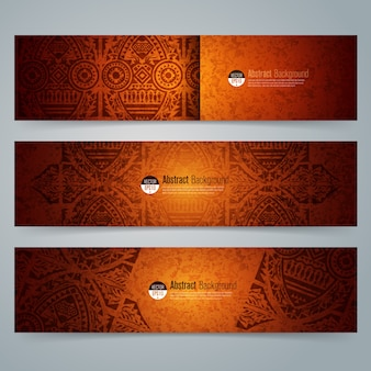 Traditional african art background banners