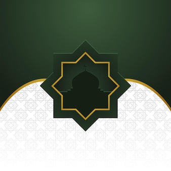 Traditional arabic banner background