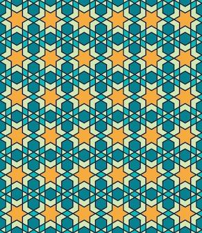 伝統的なアラビアイスラムのシームレスパターン