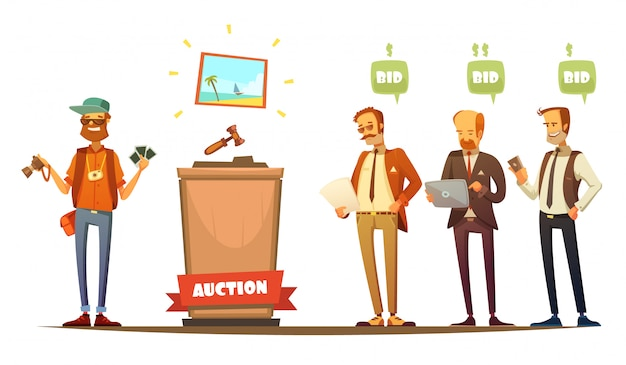 Traditional auction