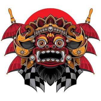 발리 전통 바롱 마스크