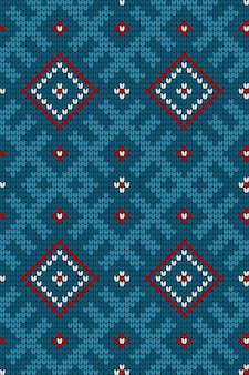 Traditional baltic knitting pattern