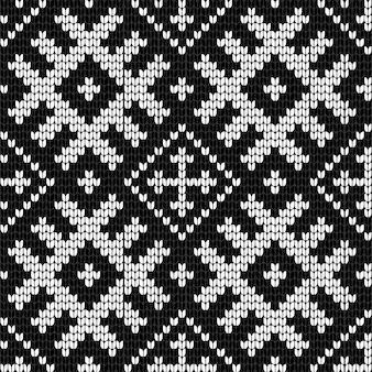 Traditional baltic knitting vector seamless pattern