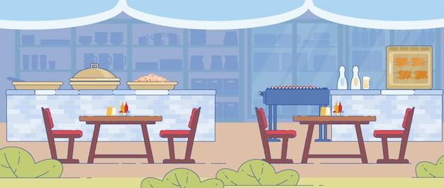 전통 바베큐 및 그릴 레스토랑 배너