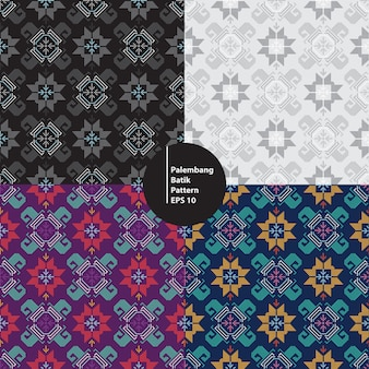 Traditional batik palembang south sumatera indonesia seamless pattern background