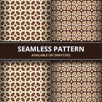 Traditional batik seamless pattern background classic wallpaper. elegant geometric shape. luxury ethnic backdrop in brown color