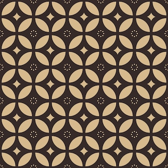 Traditional batik seamless pattern background wallpaper in geometric shape style