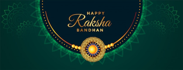 Traditional beautiful raksha bandhan festival banner