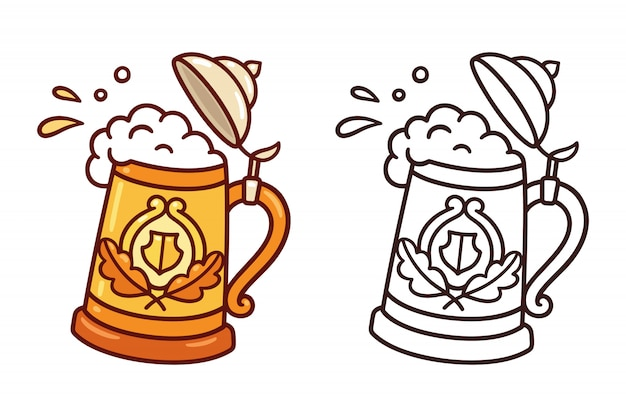 Traditional beer stein