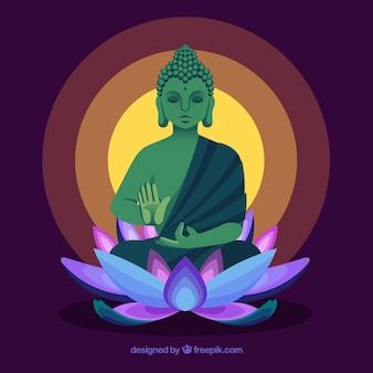 フラットデザインの伝統的な仏陀