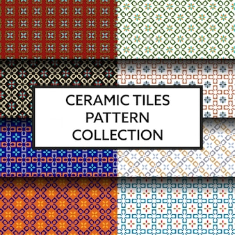 Traditional ceramic tiles pattern collection