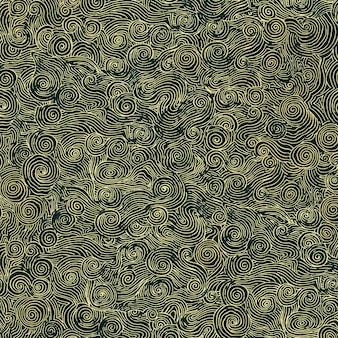 伝統的な中国の芸術の背景波パターンシームレス