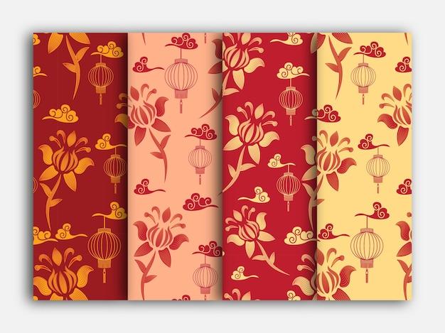 Традиционный китайский цветок бесшовный фон