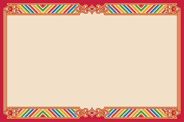 Traditional chinese frame on beige background with copy space