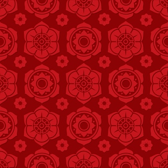 Traditional chinese and japanese floral seamless pattern design