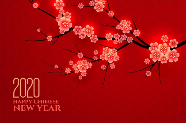 Traditional chinese new year plum leaves background