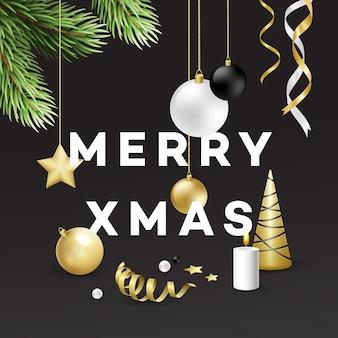 전통적인 크리스마스 장식 요소입니다. 현대적인 카드 또는 포스터 디자인. 벡터 일러스트 레이 션 eps10