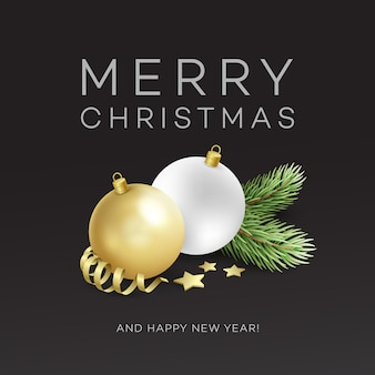Traditional christmas decoration elements. modern card or poster designs