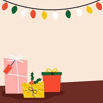 Традиционные рождественские подарки на полу