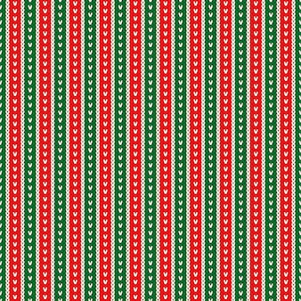 전통적인 크리스마스 겨울 휴가 니트 스웨터 패턴 디자인