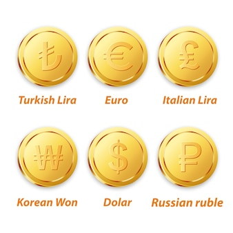 Traditional coin gold vector