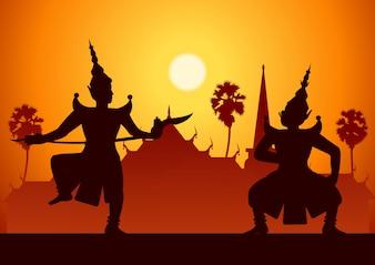 Традиционное танцевальное искусство тайской классической маскировки