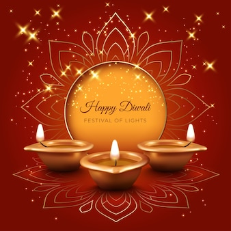 Traditional diwali festival card