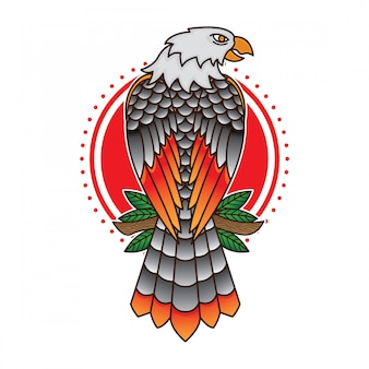Traditional eagle tattoo flash
