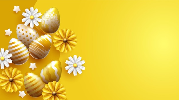 Uova di pasqua tradizionali con ornamenti diversi
