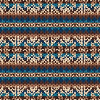 伝統的なフェアアイルパターン