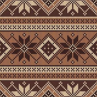 伝統的なフェアアイルのシームレスなパターン