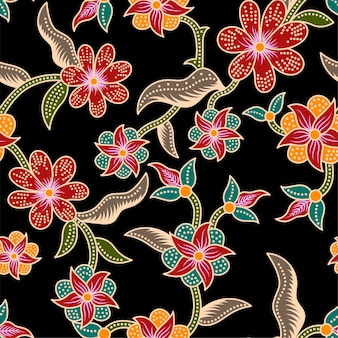 Traditional flower seamless pattern background