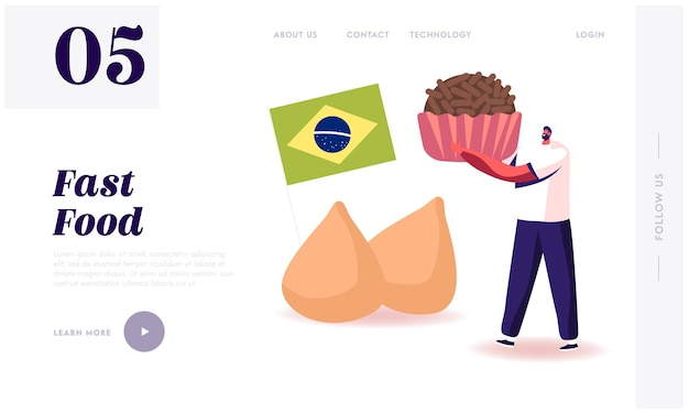 Traditional food of latin america website landing page.