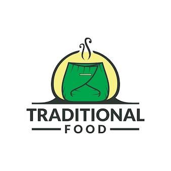 伝統的な食べ物のロゴ伝統的なレストランのロゴ