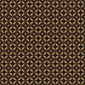 Traditional geometric indonesia batik seamless pattern background wallpaper in brown vintage style