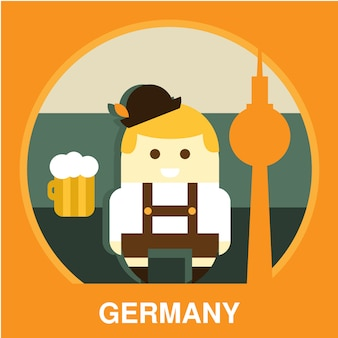Traditional germany resident illustration