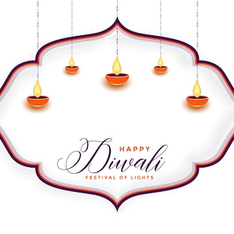 Traditional happy diwali festival background