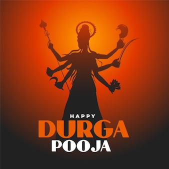 Традиционный дизайн карты фестиваля happy durga pooja