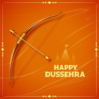 Traditional happy dussehra festival card design
